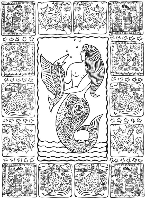 Creative Haven Mexican Folk Art Coloring Book, Dover Publications