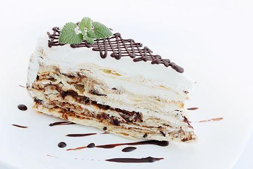 Tarta Napoleón con Chocolate Te enseñamos a cocinar recetas fáciles cómo la receta de Tarta Napoleón con Chocolate y muchas otras recetas de cocina..