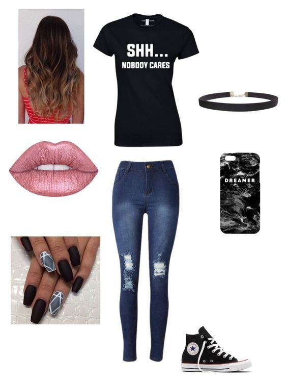 """Untitled #40"" by ashtonirwin-myhero on Polyvore featuring Converse, Mr. Gugu & Miss Go and Humble Chic"