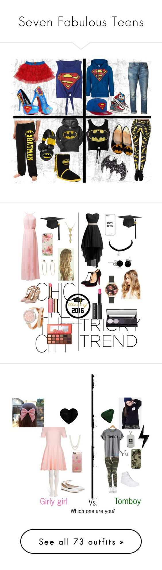 """""""Seven Fabulous Teens"""" by sierra-ivy on Polyvore featuring Logoshirt, Converse, 6397, Old Navy, Valentino, Christian Louboutin, ASOS, Bling Jewelry, Bebe and Casetify"""