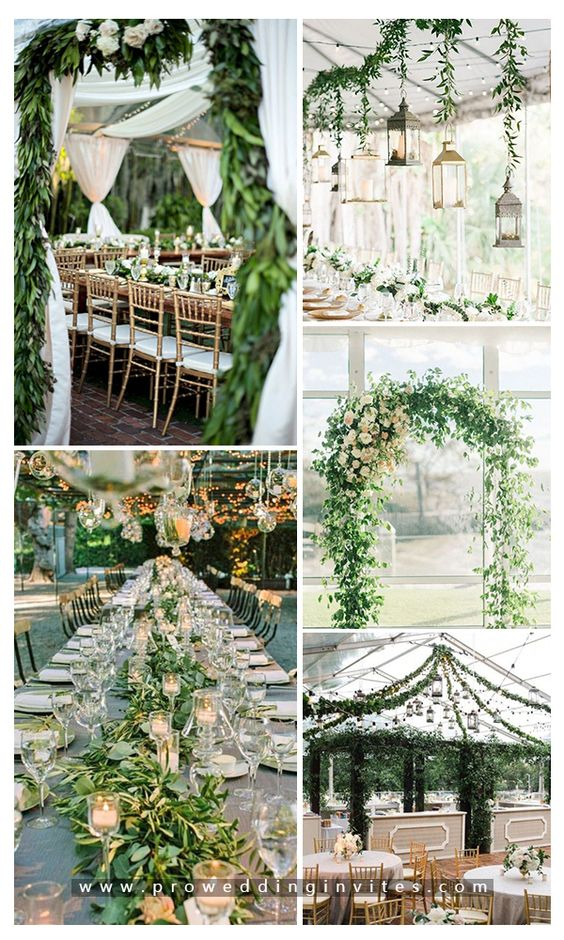 21 Unique Greenery Inspired Wedding Colors that You Can't Miss