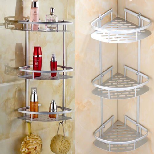 Bathroom Rack Storage Corner Shower Shelf Toilet Organizer Bath Caddy Holder