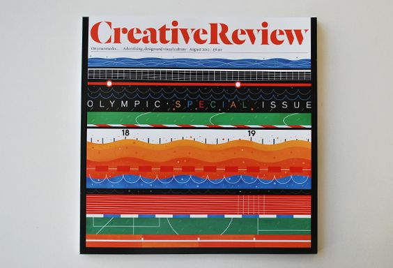 August 2012, Olympic Special Issue: Magazine Covers, Covers Sports, Review Infographics, Olympic Covers, Creative Review, 2012 Olympic, 2012 Creative, August 2012