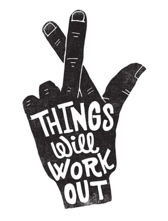 "Inspiring quote and handlettered art by Lisa Congdon. ""Things Will Work Out."" #inspiringquote #encouragement #lisacongdon"