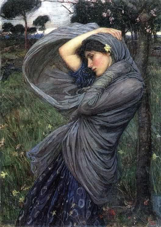 """John William Waterhouse's """"Boreas"""" (1902)  (posting this twice, as I love it as much)"""