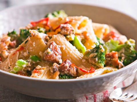 Rigatoni With Chorizo Broccoli And Ricotta Better Homes