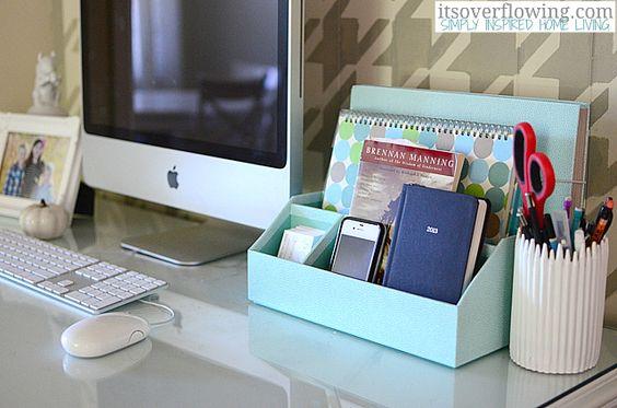 Simplify in style martha stewart home office - Martha stewart desk organizer ...