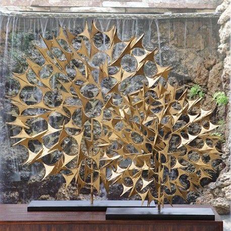 Cosmos Sculpture Gold Lg