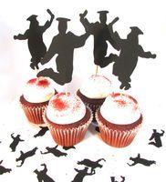 afstuderen cupcake toppers springen van vreugde afstuderen partij cupcake topper