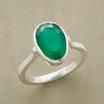 Conquista Ring--green onyx