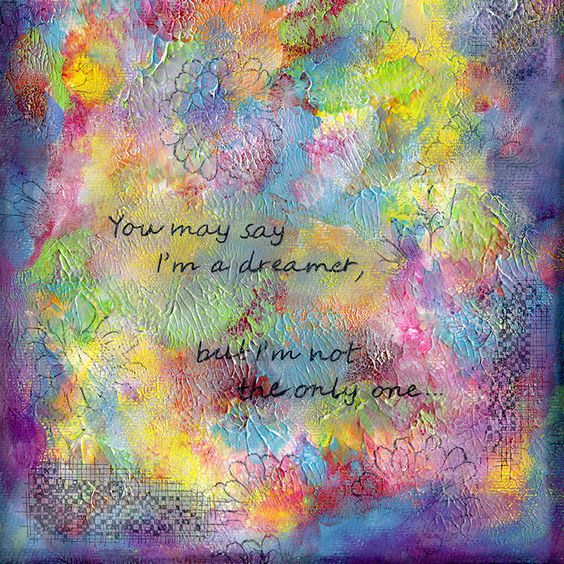 I'm a Dreamer | Mixed media textured painting by Mimi Bondi