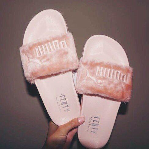 Fenty Rihanna puma baby pink slippers
