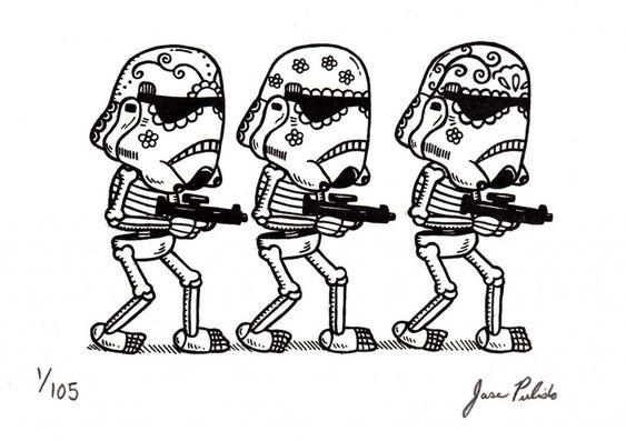 Jose Pulido e o mundo das caveiras e esqueletos.