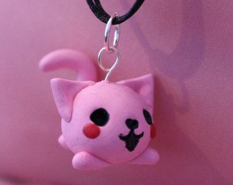 Chibi fat cat necklace