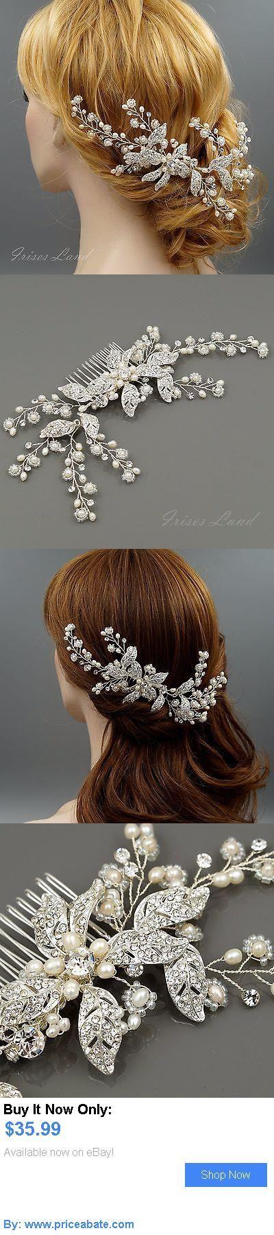 Bridal Accessories: Bridal Hair Comb Freshwater Pearl Crystal Headpiece Wedding Accessories 09873 S BUY IT NOW ONLY: $35.99 #priceabateBridalAccessories OR #priceabate