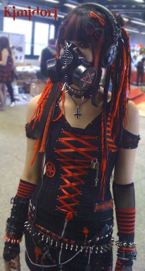 Cyber Goth Red by ~Kimidori-apple