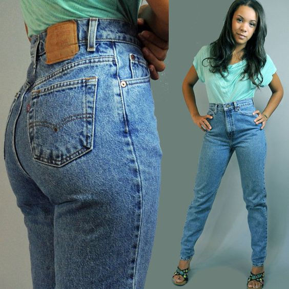 80s vintage Levis high waisted jeans / distressed LEVI 521 denim ...