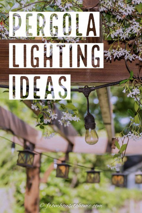 Outdoor Pergola Lighting Ideas Pergola Lighting Outdoor Pergola Pergola