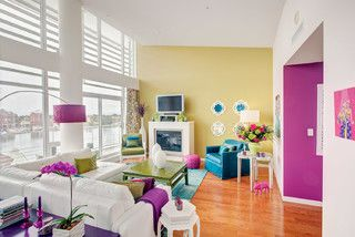 Shutters Penthouse - eclectic - living room - vancouver - by Rena Poulsen Design