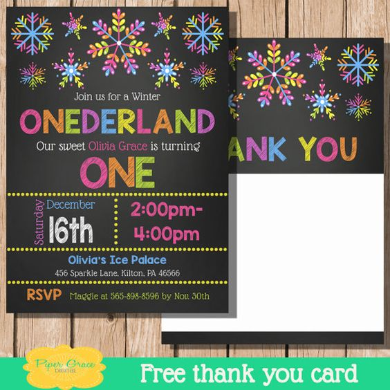 Winter Onederland Invite Winter Onederland by PiperGraceDigital