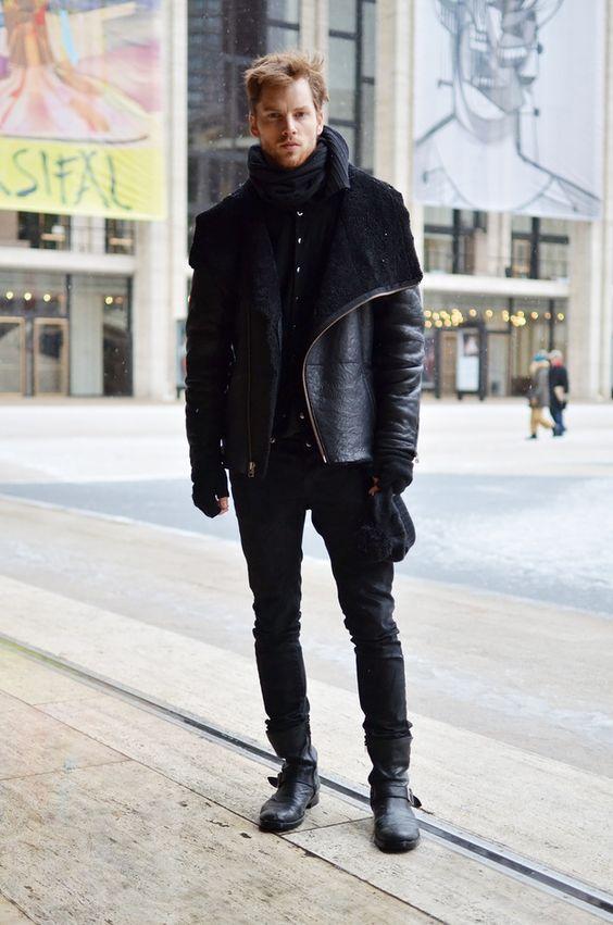 Mens Black Fashion Boots