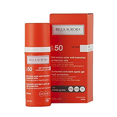 Bella Aurora Gel Solar Anti Manchas Piel Mixta Grasa Spf50 50ml Drink Bottles Shampoo Bottle Vitamin Water Bottle