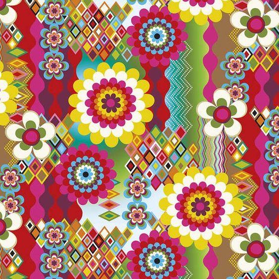 http://www.plushaddict.co.uk/windham-fabrics-mosaica-floral-collage-multi.html Windham Fabrics - Mosaica Floral Collage Multi - cotton fabric