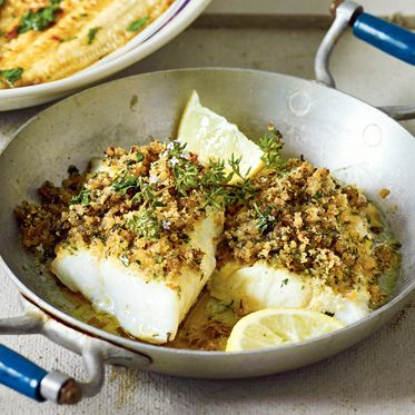 Fisch mit Kräuterkruste Rezept   Küchengötter