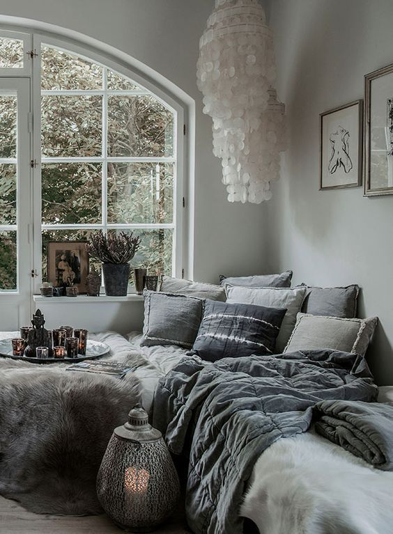 """This can fill the """"comfy corner"""" but I would use a palette of brown, gold, and white, then add in a touch of maroon, forest green, and purple."""