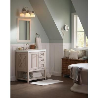 Martha stewart living 3 light seal harbor collection for Martha stewart bathroom designs