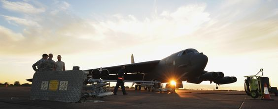 Fuels distribution operators from 2nd Logistics Readiness Squadron,Barksdale AFB,La.,refuel B-52 Stratofortress at RAF Fairford,England,June 11,2014.During the short-term deployment, the multi-role heavy bomber conducted training flights in USEUCOM area of operations,providing opportunities for aircrews to sharpen skills in several key operational sets & become familiar with airbases & operations in the region. (U.S. Air Force photo by Staff Sgt. Nick Wilson/Released)
