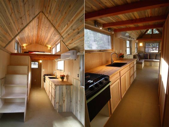 A 260 square feet tiny house on wheels in Boulder Colorado Built