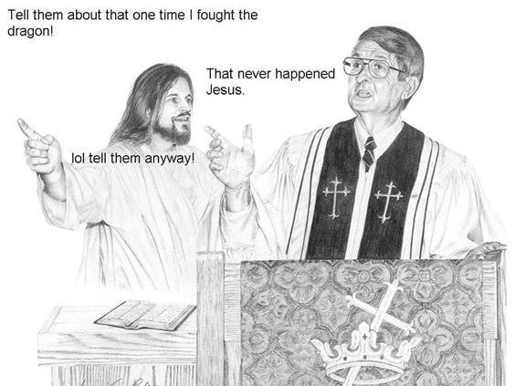 Jesus and dragons