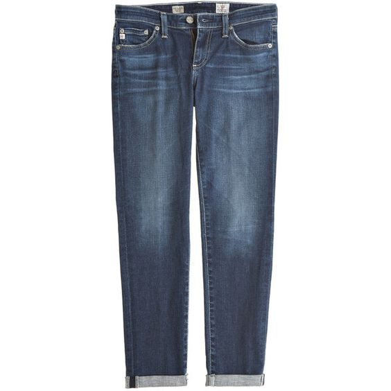 ADRIANO GOLDSCHMIED Rio Stilt Roll Up ($199) ❤ liked on Polyvore featuring jeans, pants, blue skinny jeans, rolled skinny jeans, skinny leg jeans, denim skinny jeans and skinny fit jeans