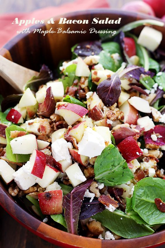 more bacon salad vinaigrette vinaigrette recipe bacon salads apples ...