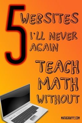 Sites that I can't do without as a math teacher (and what's so special about each one!)   Links to virtual manipulatives, discovery-based lessons, free graphing software, question prompts, eBooks, and more....  Tons of resources for math teachers