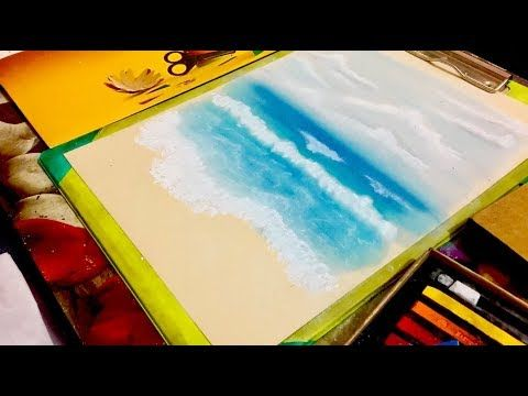 Drawing Sea With Soft Pastel Colors Youtube Pastel Art Soft Pastel Art Soft Pastel
