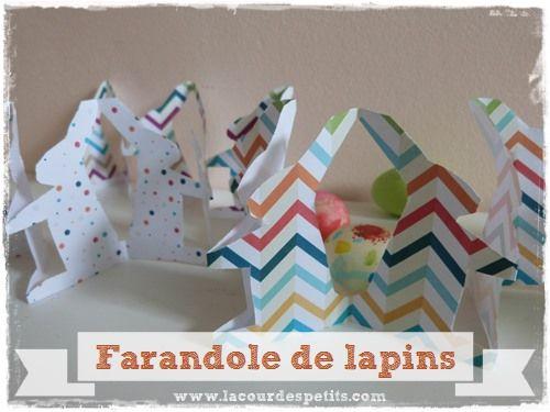 Activit Manuelle De P Ques La Farandole De Lapins Diy And Crafts Tables And Bricolage