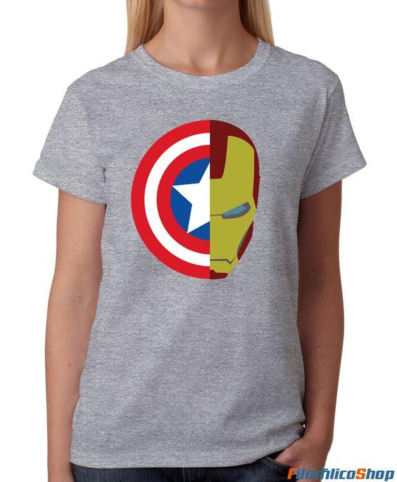 Camiseta Capitán América vs Iron Man: Civil War