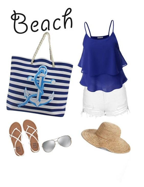 """Beach Vibes"" by hc-11 ❤ liked on Polyvore featuring Nordstrom, Topshop, Doublju, Michael Kors, Billabong and beachtotes"