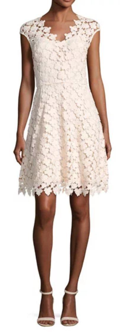 white lace cap sleeve dress