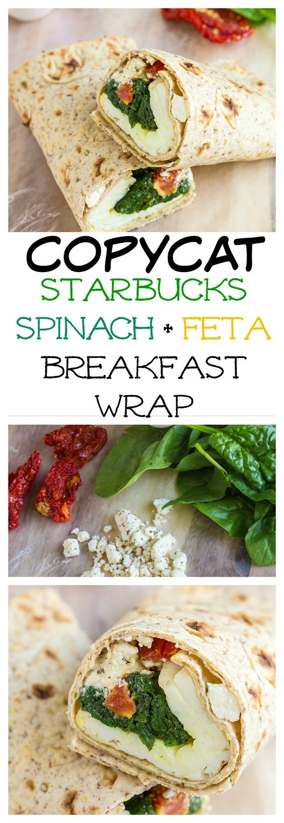 Never go to Starbucks for food again- This Copycat Spinach and Feta wrap tastes so much better, is cost effective, freezer friendly and gluten free! #backtoschool #lunchbox #college