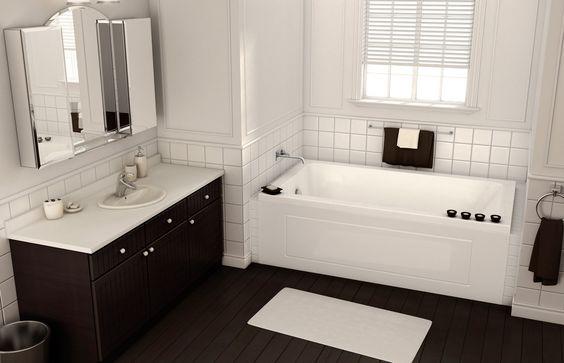 Pose alcove or drop in bathtub maax bathroom nh for Deep alcove tub
