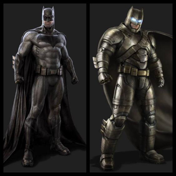 Regular and Superman-Buster costumes.