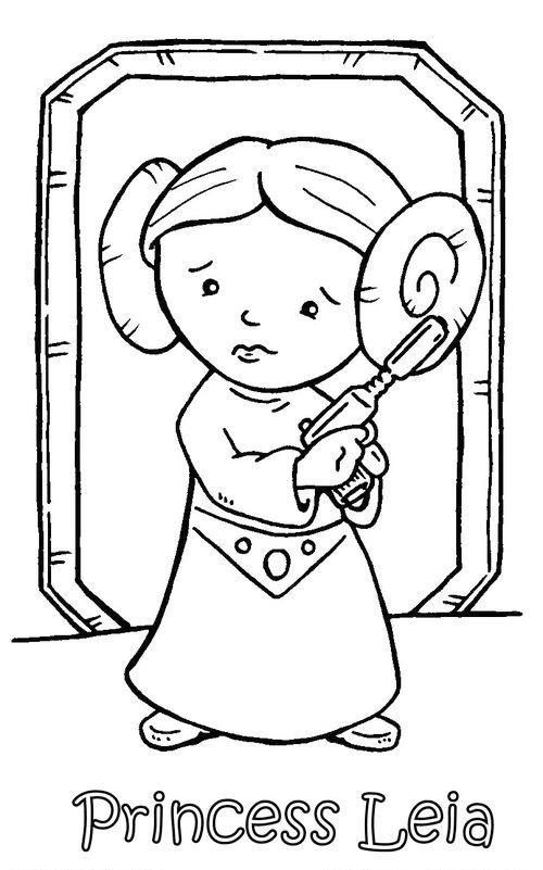 Chibi Princess Leia Coloring Pages For Kids Star Wars Colors