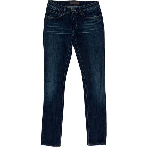 Pre-owned Acne Jeans ($65) ❤ liked on Polyvore featuring blue e acne studios