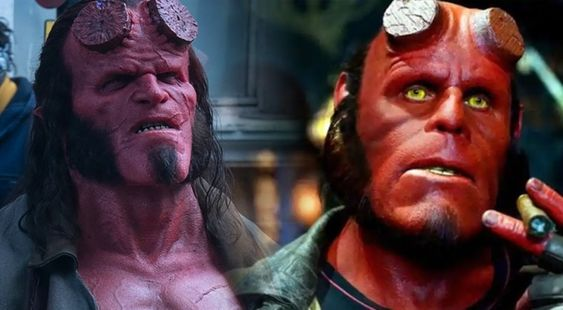 New Hellboy sees David Harbour (left) in the titular role.