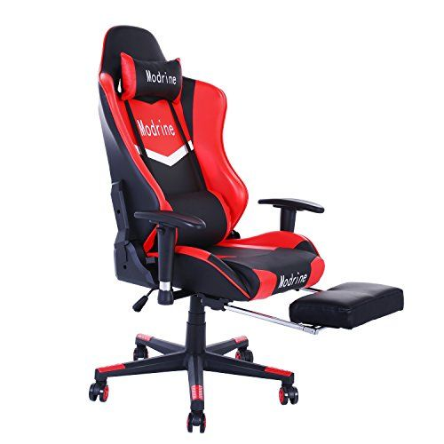 Modrine Gaming Chair Adjustable Height High Back Pu Leather Office