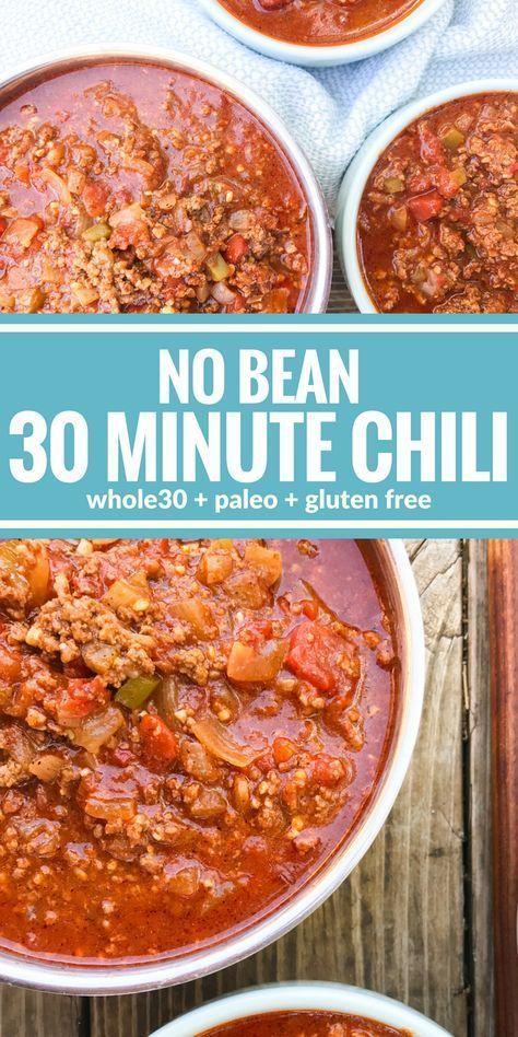 No Bean 30 Minute Chili