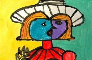 Portrait of Dora Maar Lesson. The outline of black lines really makes the whole project.